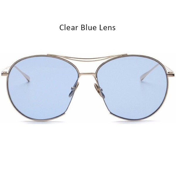 TSHING Fashion Clear Lens Aviation Sunglasses Women Men Vintage Brand Designer Mirror Pilot Sun Glasses For Ladiy Female Eyewear