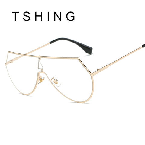 TSHING 2017 New Oversized Aviation Sunglasses Vintage Women Big Metal Frame Glasses For Female Eyewear Oculos UV400
