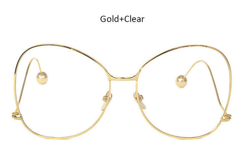 TSHING Women Clear Glasses Frame Eyeglasses Female Male Fashion Vintage Butterfly Eyewear Frame Optical Glasses for Men