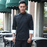 high quality  Winter long-sleeved Chef service Hotel working wear Restaurant work clothes Tooling uniform cook Tops