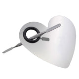 304 Stainless Steel New Heart Shape Makeup Nail Palette Set Spatula Fashion Pallet Makeup Artist Tools Hot New
