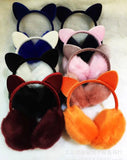 New Year Sale,winter lovely Rabbit ears plush earmuffs, women's warm ear muffs with bowknot