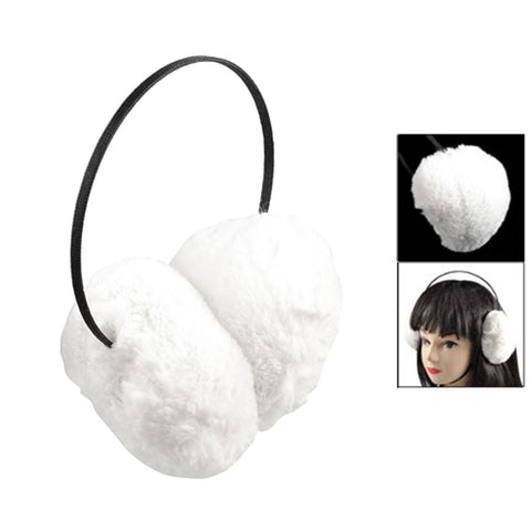 HOT SALE!Woman Man White Soft Plush Fluffy Ear Muffs Earmuffs Winter Warmers