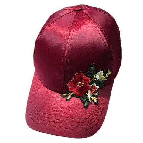 Applique Baseball Cap Women Men Couple Floral Unisex Snapback Hip Hop Flat Hat Adjustable casquette fashion sun hat
