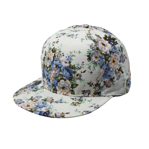 Fashion Korean 2017 Hot Women hip hop cap Summer Floral Hip-Hop Hat Flat Adjustable Baseball Cap