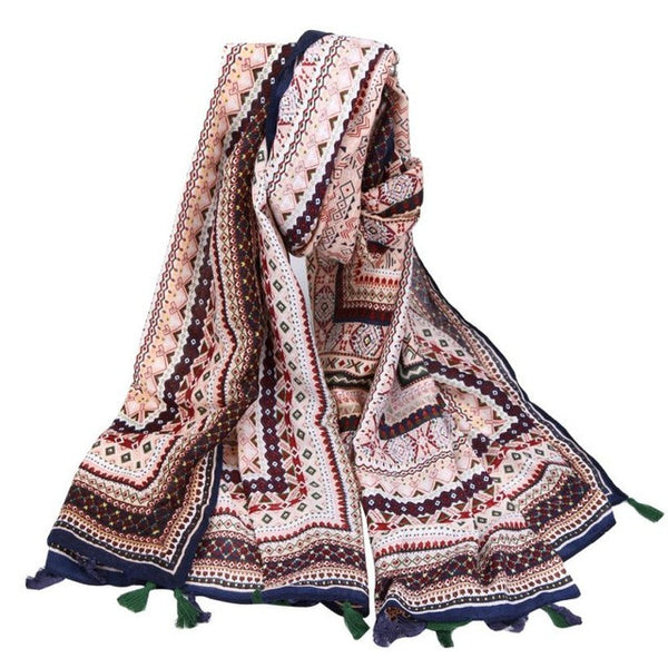 Autumn & Summer Sun Oversized shawl Beach Cover Up Tassel Beach Towel Scarf Picnic Blanket Throw Mat scarves for Women