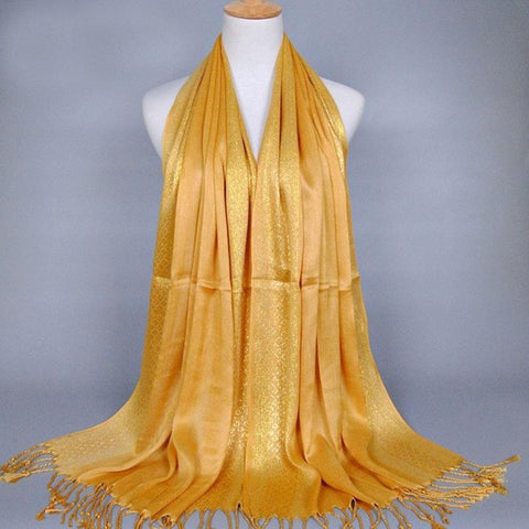 Plus Size Womens Fashion Scarf Muslim Long Cotton Shawl Tassel Scarves Stole Cotton Wrap