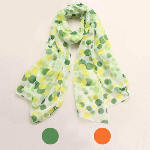 JECKSION Scarf Women 2016 New Dots Long Soft Neck Chiffon Scarf Shawl Scarves Stole Wraps