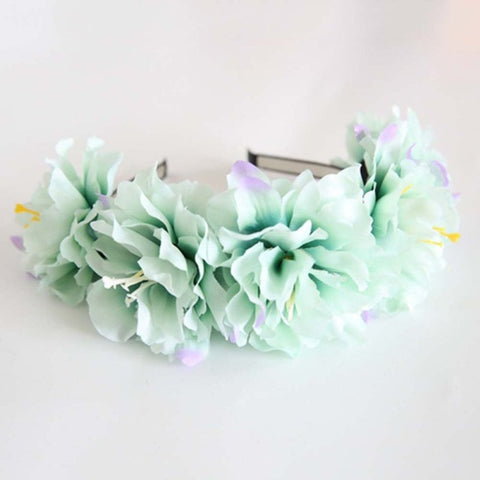 Rose Flower Crown Headband Hair Garland Bride Wedding Headwear Beach Accessories
