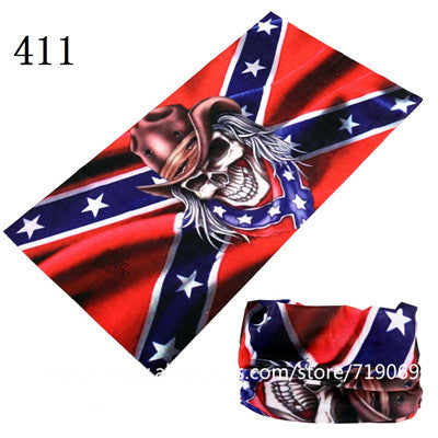 Flag Series headscarf Riding Bicycle Motorcycle Variety Turban Novelty Bandanas Magic Headband Veil Multi Head Scarf Scarves