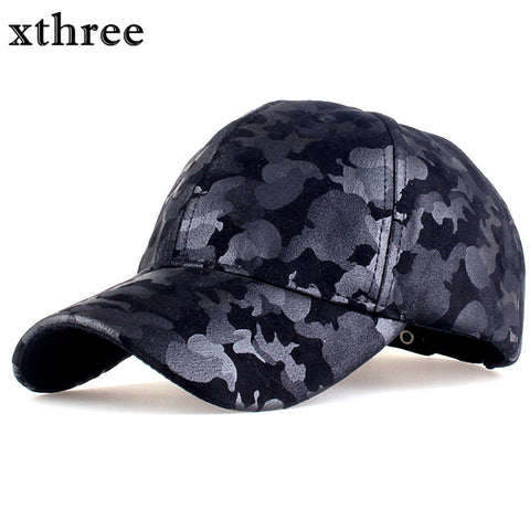 Xthree camouflage baseball cap army snapback Hat for men Cap women gorra casquette dad hat Wholesale
