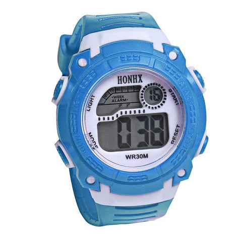 2017 Children Girls Digital LED Quartz Alarm Date Sports Wrist Watch children's watches for kids boys