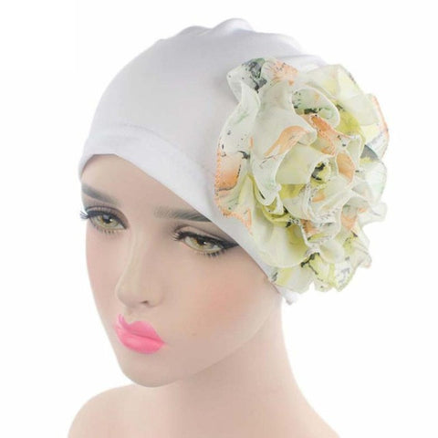 Fashion Hot Sale Stretchy Turban Head Wrap Band Sleep Hat Hair Cover Sleep Cap Turban Ladies Casual Floral 5 Colors High Quality