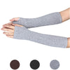 1Pair Winter Wrist Arm Hand Warmer Knitted Long Fingerless Gloves Mitten