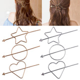 1pcs fashion Women Hair Accessories Simple Geometric Star style Gold grey Hairpins Hair Pin Stick
