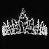 Luxury Bridal Crystal Tiara Crowns Princess Queen Pageant Prom Rhinestone Veil Tiara Headband Wedding Hair Accessory