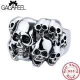 Gagafeel Many Skull 100% Pure 925 Sterling Silver Cool Men's Ring Thai Silver Fine Jewelry Men Jewelry LHYR31