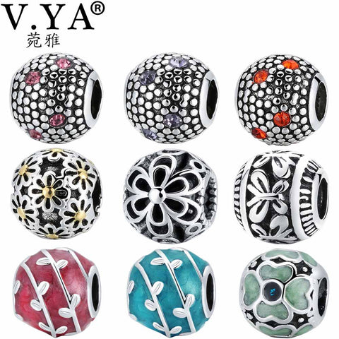 V.YA Charms Beads fit for Pandora Bangles Bracelets DIY Bead for Jewelry Making Women's Men's Accessory