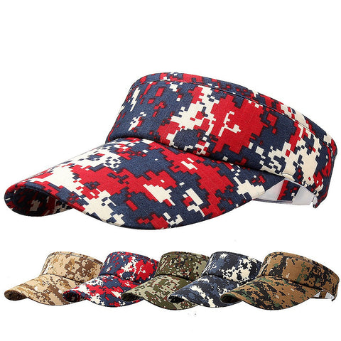 Adjustable Dealstock Plain Unisex Men Women Sport Summer Sun Visor Camouflage Print Cap Casual Hat