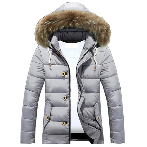 Winter Puffer Jacket Men Thicken Down Coat Faux Fur Hooded Cotton Fleece Padded Male Windproof Warm Parka Jackets 3XL Plus Size
