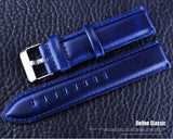 Forsining Quality Durable Navy Blue Genuine Leather Belt Watch Accessories Watch Strap 18 20 mm Watchbands