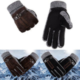 Fashion Women Men Winter Warm Motorcycle Ski Snow Snowboard Gloves Warm Cashmere Lining Tactical Gloves