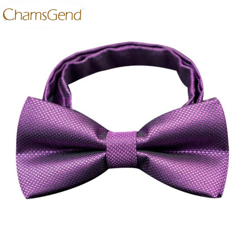 Chamsgend Newly Design Men's Leisure Purple Bow Tie Shirt Tie Wedding Party Accessories 160316 Drop Shipping