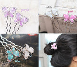 Fashion Women Cute Crystal Butterfly Hairpin Hair Pin Accessories New