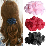 Fashion Women Flower Hair Pins Hairpin Clip Barrette fabric Hair Claw Accessories 4 colors
