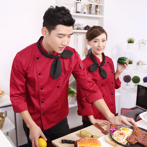 2017 autumn uniforms chef jackets full sleeve chef service hotel working wear restaurant work clothes tooling uniform cook suit