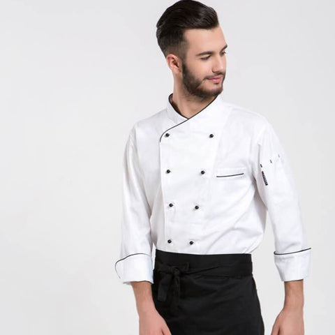 2017 autumn high quality short sleeved chef service jackte hotel working wear restaurant work clothes tooling uniform cook tops