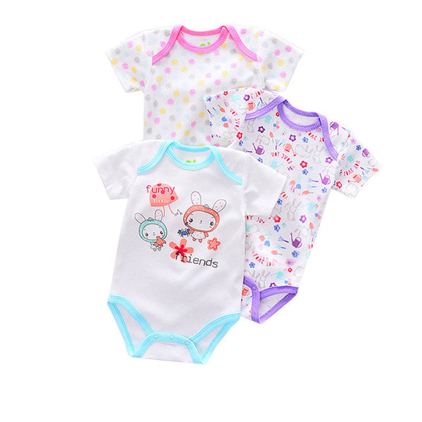3PCS Baby clothes Newborn Infant Baby Boy Girl Cartoon Romper Jumpsuit Cute Climbing Clothes drop shipping