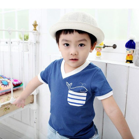 Kids 2016 Boys Summer Cotton Dolphin Active Boy T-shirts Tops Tee Children Clothing Baby Boys T-Shirt Apparel Clothes