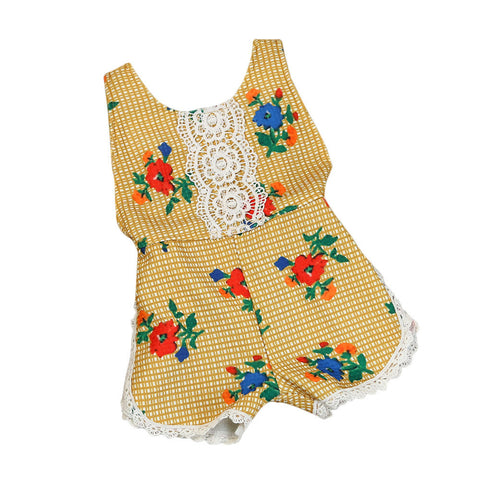New design Baby Clothes Newborn Baby Rompers summer Baby Girl Boy Clothes Costume Overalls floral tassel Baby Clothing