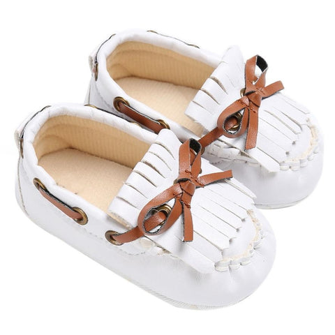 Infant Baby Girls Flower Baby Shoes PU Leather Baby Moccasins Gold Bow Girls First Walker Toddler