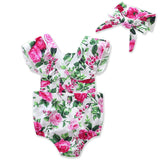 Baby Rompers Children Summer Clothing for Girls Newborn Baby Girl Cotton Rompers Jumpsuits+Headband Clothes Sets