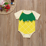 New Born Baby Girl Clothes 2017 Baby Rompers Newborn Summer Pineapple Pattern Cotton Jumpsuit Clothing