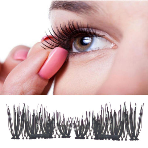 2017 Sexy 100% Natural ThClassic 3D Magnetic False Eyelashes Extension Tools Natural Makeup Fake Eye Lashes Extension Tools