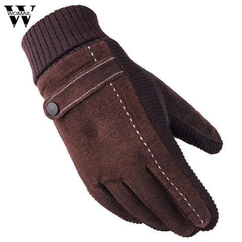 Winter Gloves Men Thicken Warm Snow Snowboard Cashmere Male Gloves High Quality