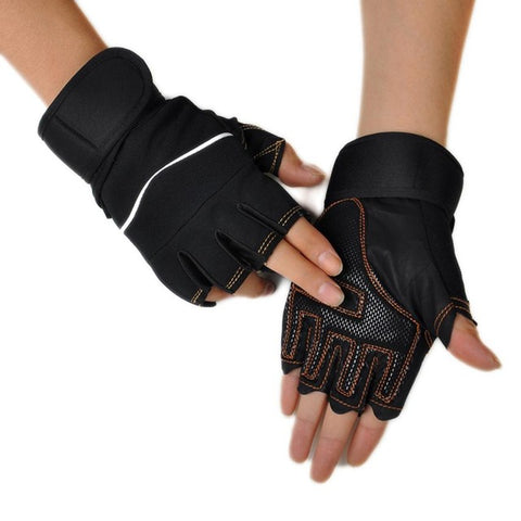 Chamsgend GloveNewly Design Workout Weight Lifting Training Fingerless Gloves 160115 Drop Shipping