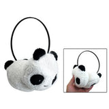 Hot Gilrs Black White Small Panda Design Pad Fluffy Ear Warmer Earmuffs