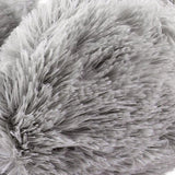 Hot Unisex Winter Headband Fluffy Faux Fur Ear Pad Back Earmuffs Gray