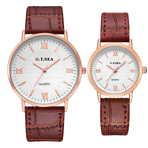 O.T.SEA Luxuary Brand Classic Couples Watches Business Style Lovers Men Women Clock Quartz Charms Analog Wristwatches #701