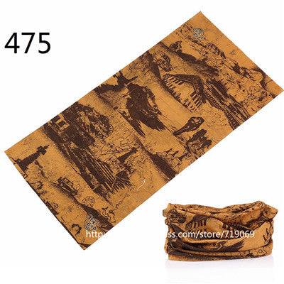 461-490 Mixed Design Bandana Scarf Summer Unisex Face Mask Tube Scarves Seamless Turban Headband Bicycle hijab Neck Tube