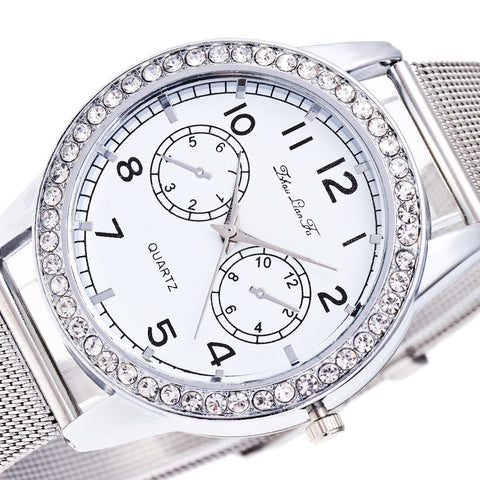New Womenontracted Fashion Watches Steel Band Watches