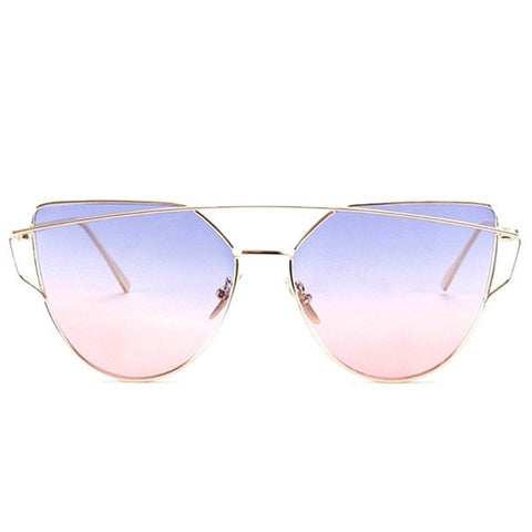 TSHING Fashion New Women Cat Eye Sunglasses Ladies Gradient Ocean Clear Lens Cateye Sun Glasses For Female Optical Frame Eyewear