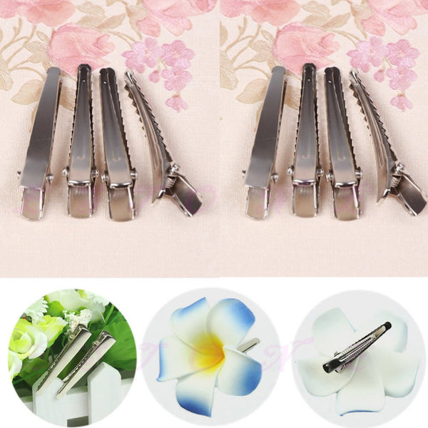 10pcs 47mm Metal Single Prong Alligator Clip Hair Bow Hair Accessories DIY Tool