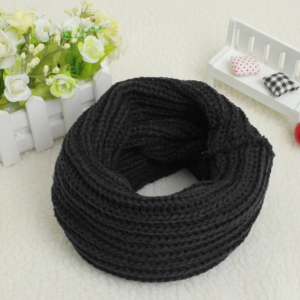 9 Colors Brand New Fashion Solid New 2017 Women Winter Scarves Warm Knitted Ring Scarf Cowl Snood Shawl Wrap Neck Warmer