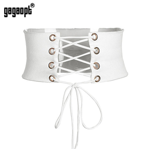 Gagaopt 2017 Tie Up Holes Women Belt  Vintage Belts for woman Jeans high quality Female Strap Fashion