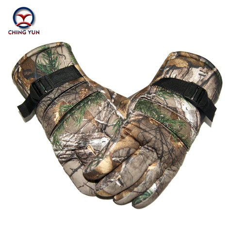 men gloves winter polyester cotton camouflage color mittens outdoor activities soft warm adjustable wrist fleece liningArm sleev